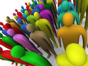 multicolored crowd #2