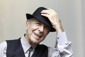 Canadian  Leonard Cohen performs during